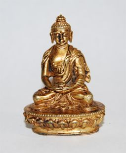 Amitabha Gilt Copper 2〝 Statue (II)