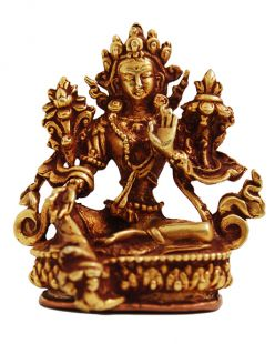 Green Tara Gilt Copper 2〝 Statue