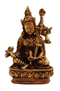 Guru Rinpoche Gilt Copper 2〝 Statue